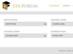 EDU Forum screen example WordPress expert